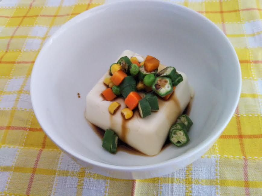 オクラの湯豆腐