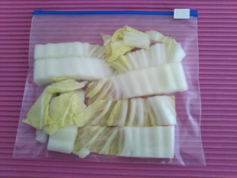 白菜を冷凍する