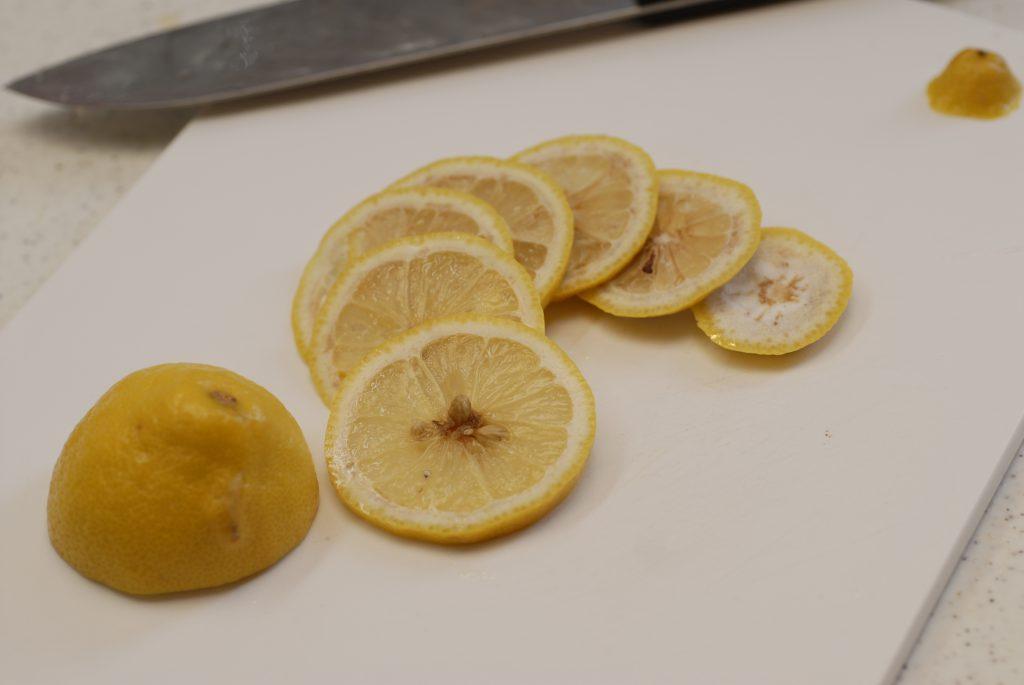 輪切りのレモンの冷凍保存