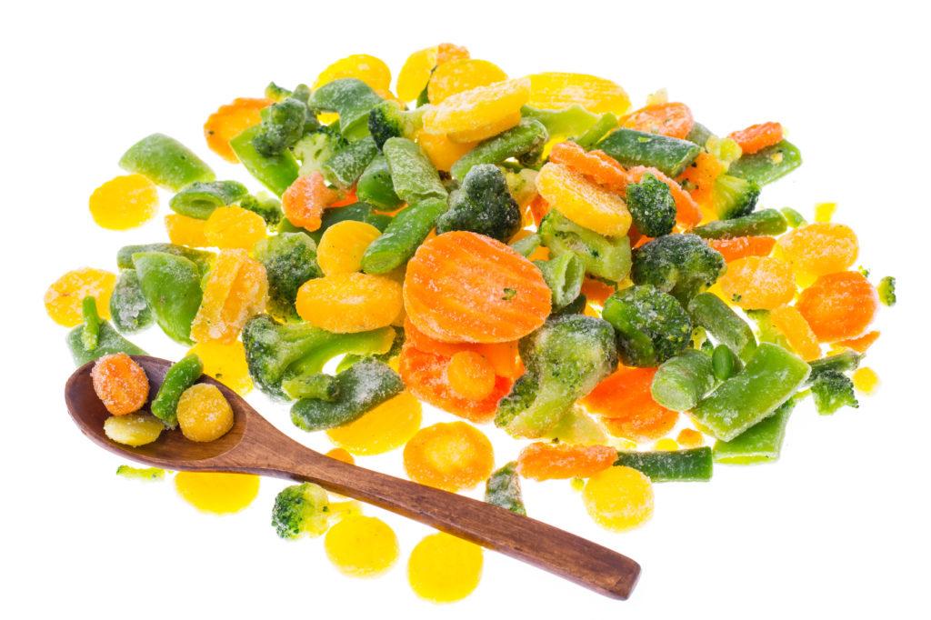 冷凍した野菜の栄養