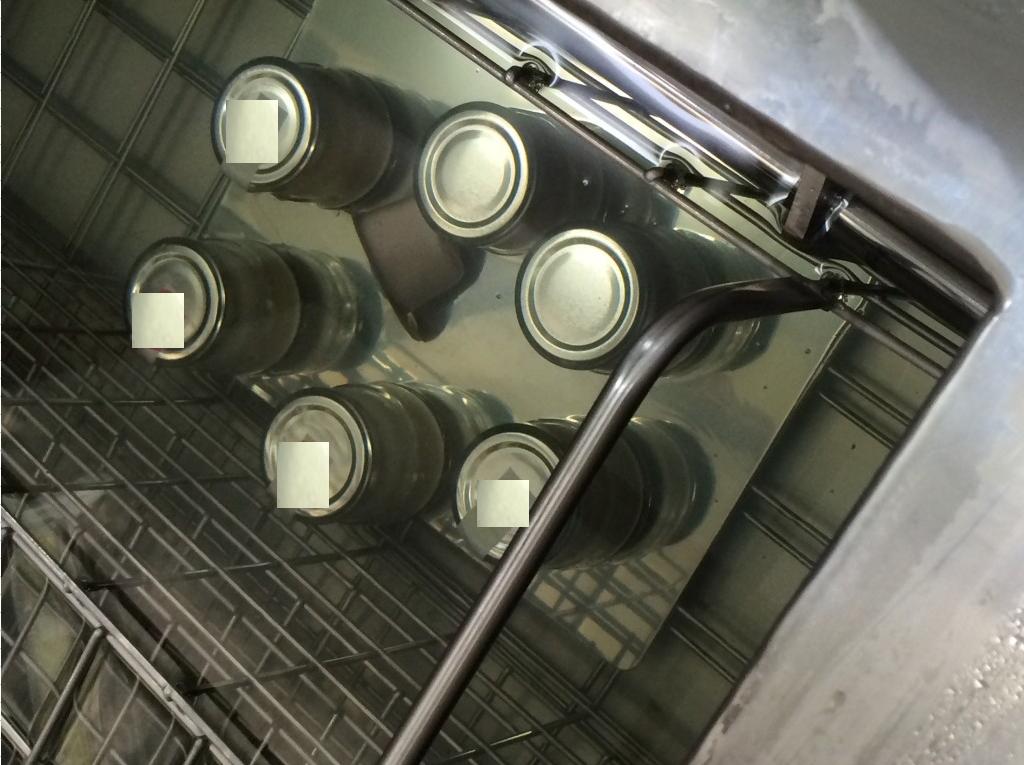 急速冷凍中のプリン