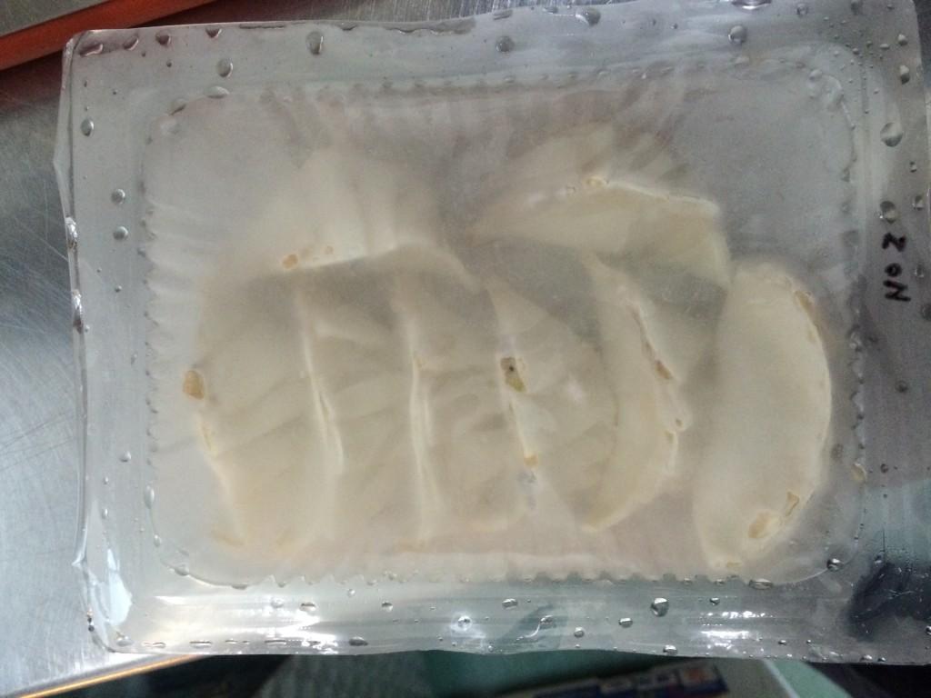 凍結した餃子