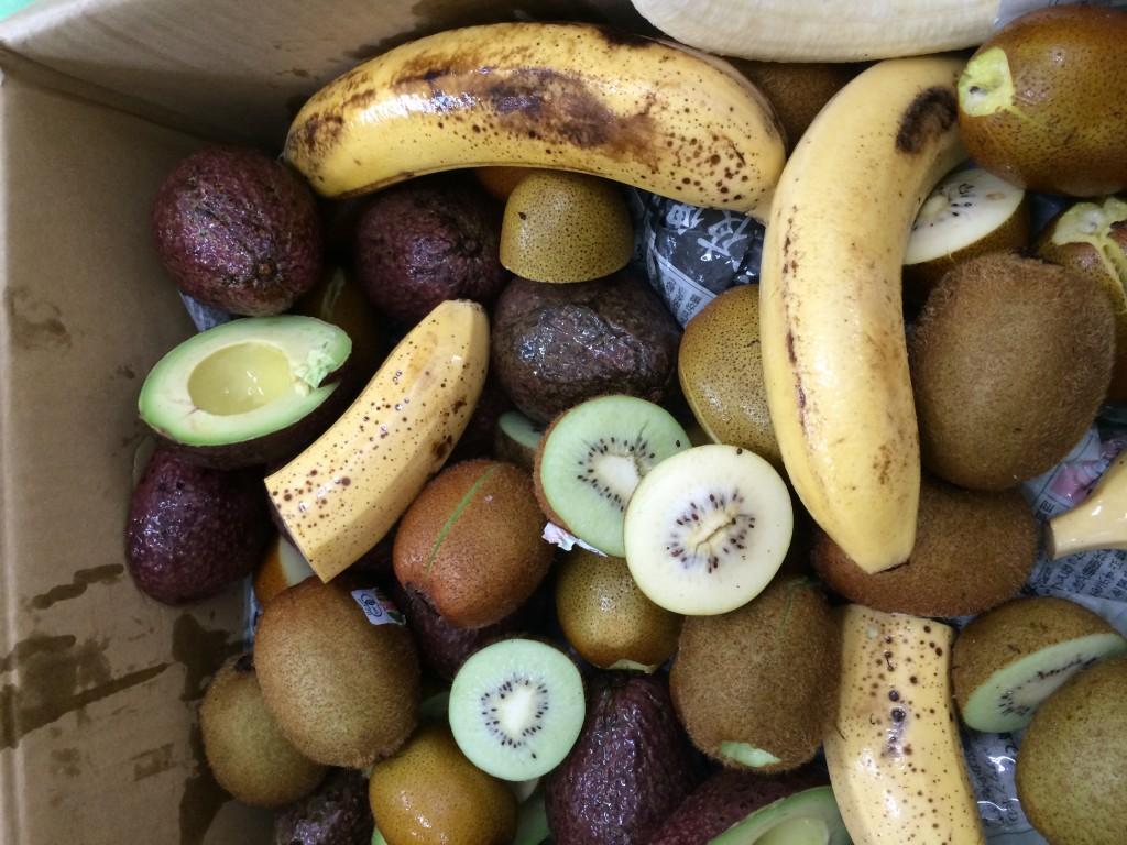 凍結後の果物