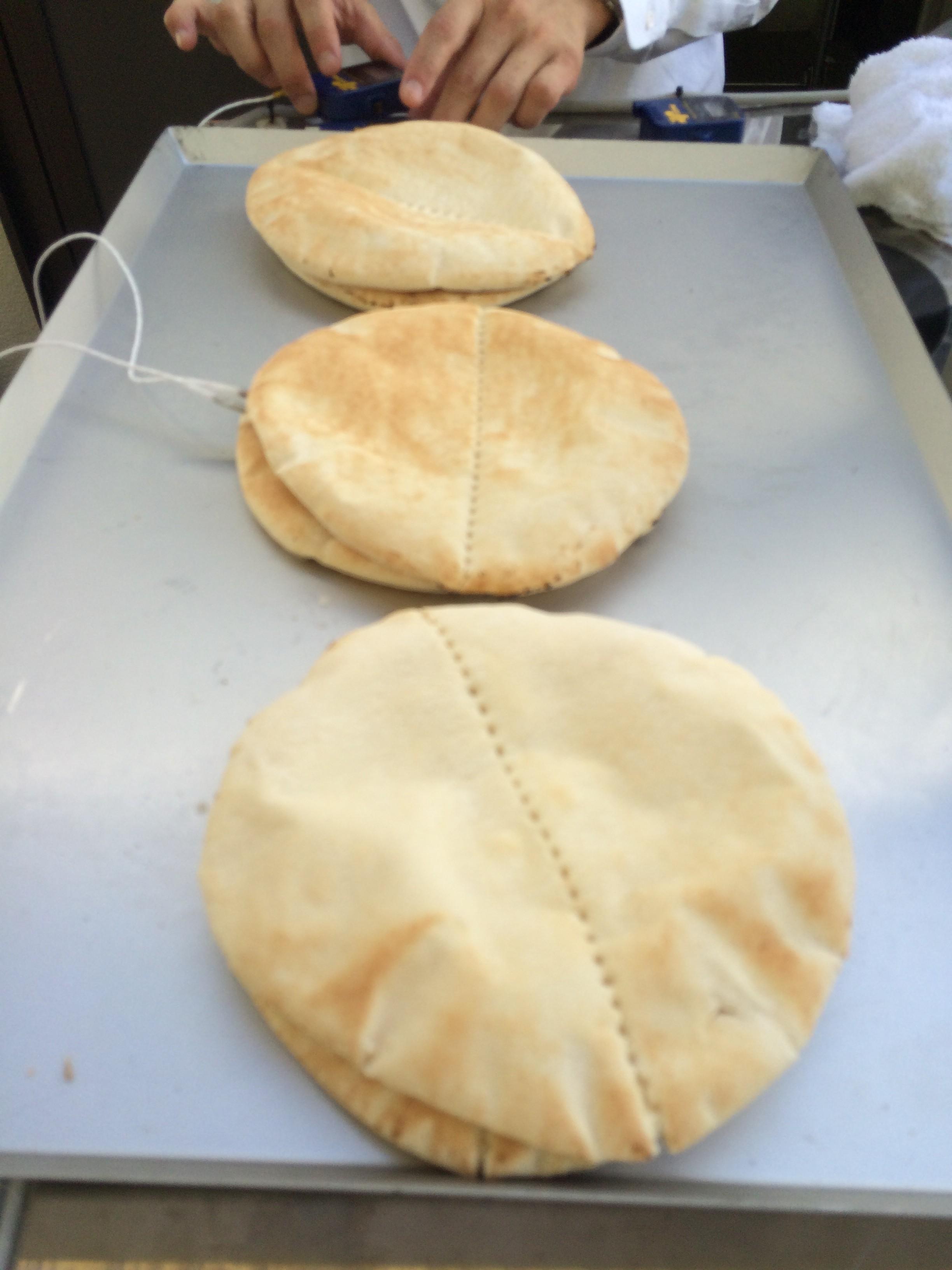 冷却後のピタパン