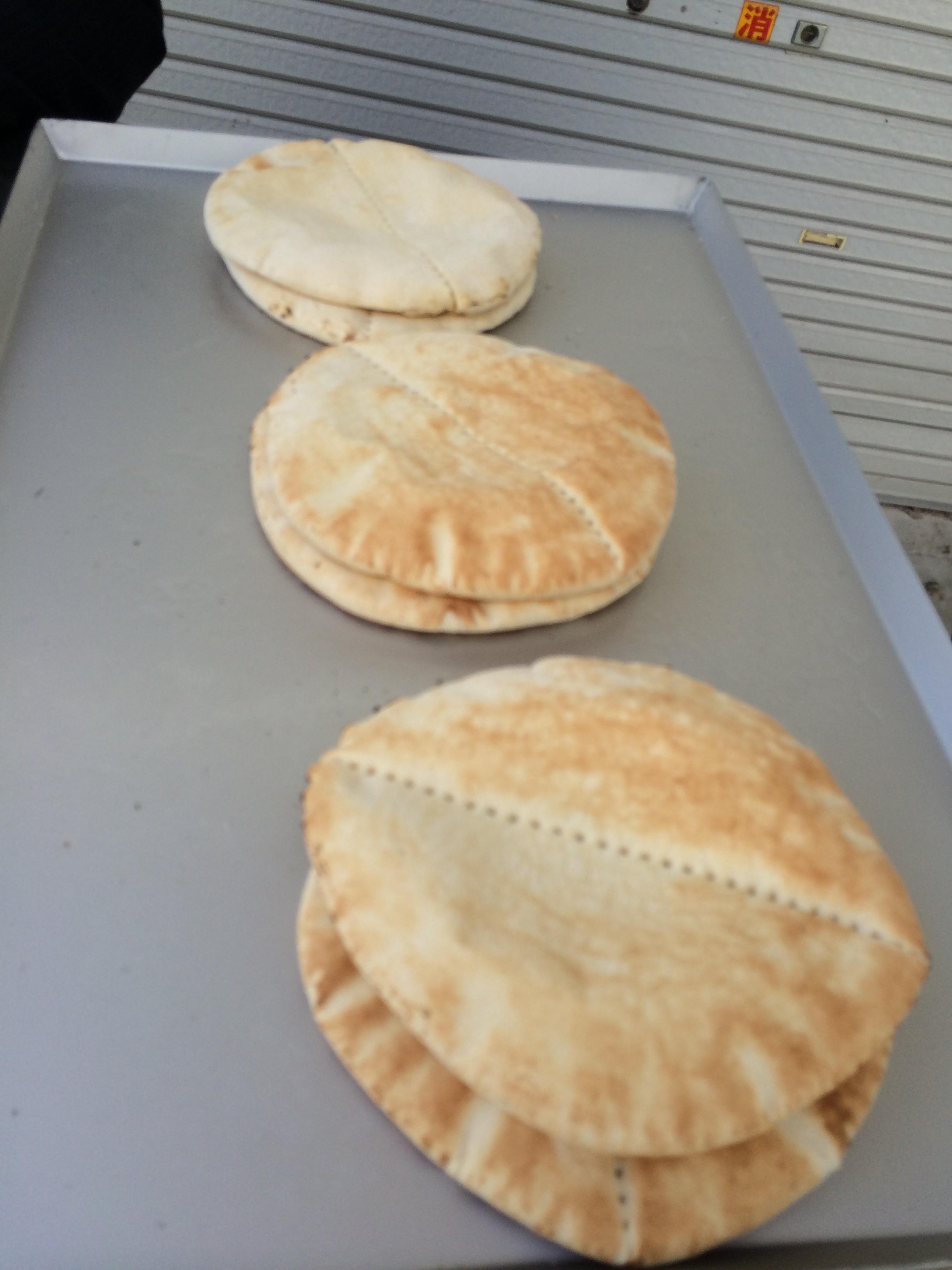 冷却前のピタパン