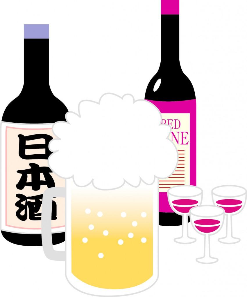 ビール、日本酒、ワイン