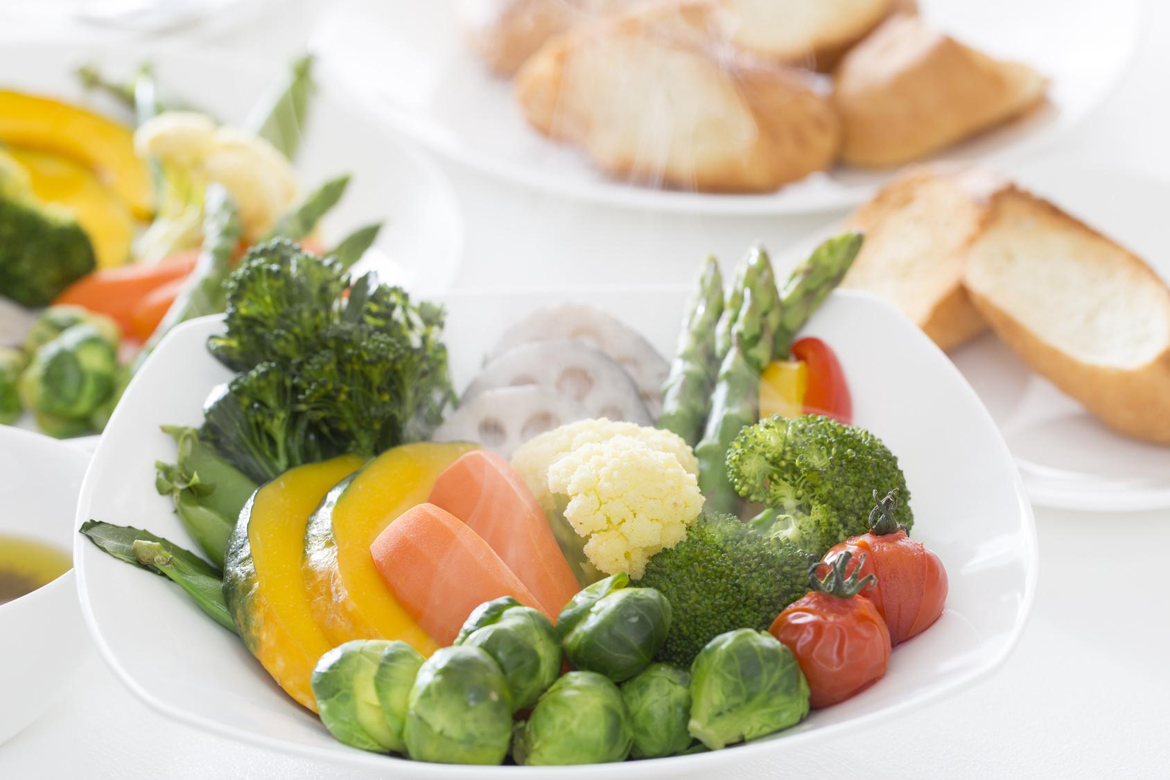 ブランチング処理の野菜