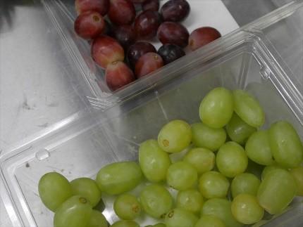 凍結した果物
