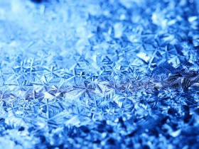texture ice crystals blue cold background